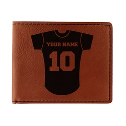 Baseball Jersey Leatherette Bifold Wallet (Personalized)