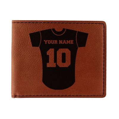 Baseball Jersey Leatherette Bifold Wallet (Personalized)