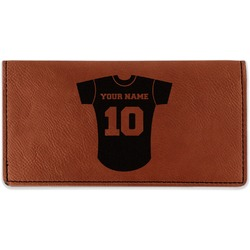 Baseball Jersey Leatherette Checkbook Holder (Personalized)