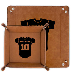 Baseball Jersey Faux Leather Valet Tray (Personalized)