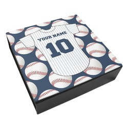 Baseball Jersey Leatherette Keepsake Box - 3 Sizes (Personalized)