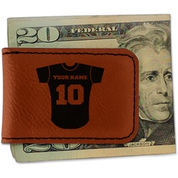 Baseball Jersey Leatherette Magnetic Money Clip (Personalized)