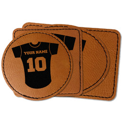 Baseball Jersey Faux Leather Iron On Patch (Personalized)