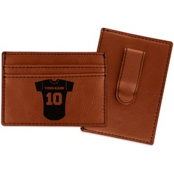 Baseball Jersey Leatherette Wallet with Money Clip (Personalized)