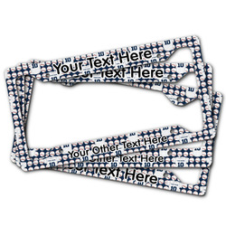 Baseball Jersey License Plate Frame (Personalized)