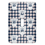 Baseball Jersey Light Switch Covers - Multiple Toggle Options Available (Personalized)