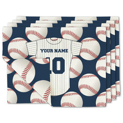 Baseball Jersey Linen Placemat w/ Name and Number