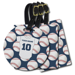Baseball Jersey Plastic Luggage Tags (Personalized)