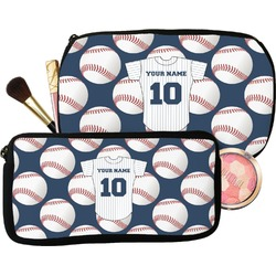 Baseball Jersey Makeup / Cosmetic Bag (Personalized)