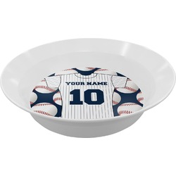 Baseball Jersey Melamine Bowl - 12 oz (Personalized)