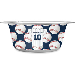Baseball Jersey Stainless Steel Dog Bowl (Personalized)