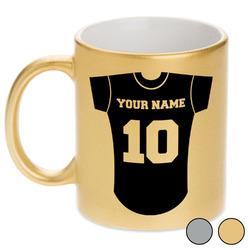Baseball Jersey Metallic Mug (Personalized)