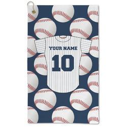 Baseball Jersey Microfiber Golf Towel - Large (Personalized)