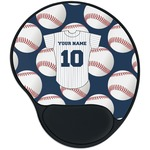 Baseball Jersey Mouse Pad with Wrist Support