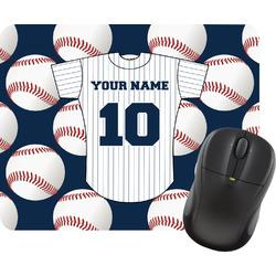 Baseball Jersey Rectangular Mouse Pad (Personalized)