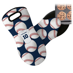 Baseball Jersey Neoprene Oven Mitts w/ Name and Number