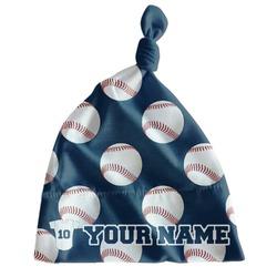 Baseball Jersey Newborn Hat - Knotted (Personalized)