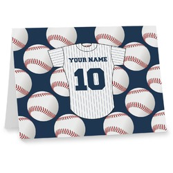 Baseball Jersey Note cards (Personalized)