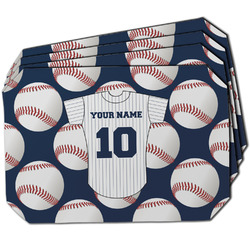 Baseball Jersey Dining Table Mat - Octagon w/ Name and Number