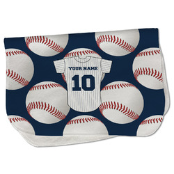 Baseball Jersey Burp Cloth - Fleece w/ Name and Number