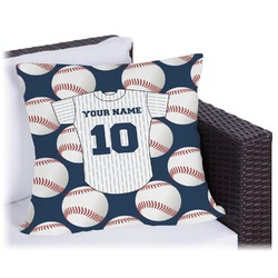 """Baseball Jersey Outdoor Pillow - 26"""" (Personalized)"""