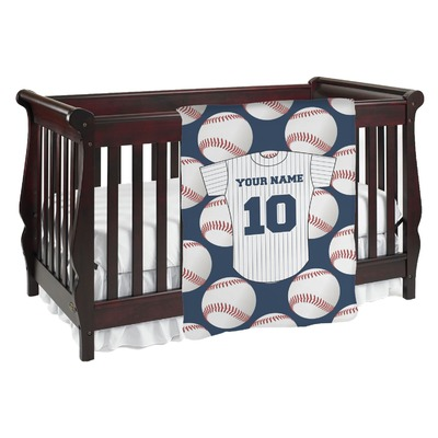 Baseball Jersey Baby Blanket (Personalized)