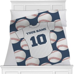"Baseball Jersey Fleece Blanket - Twin / Full - 80""x60"" - Single Sided (Personalized)"