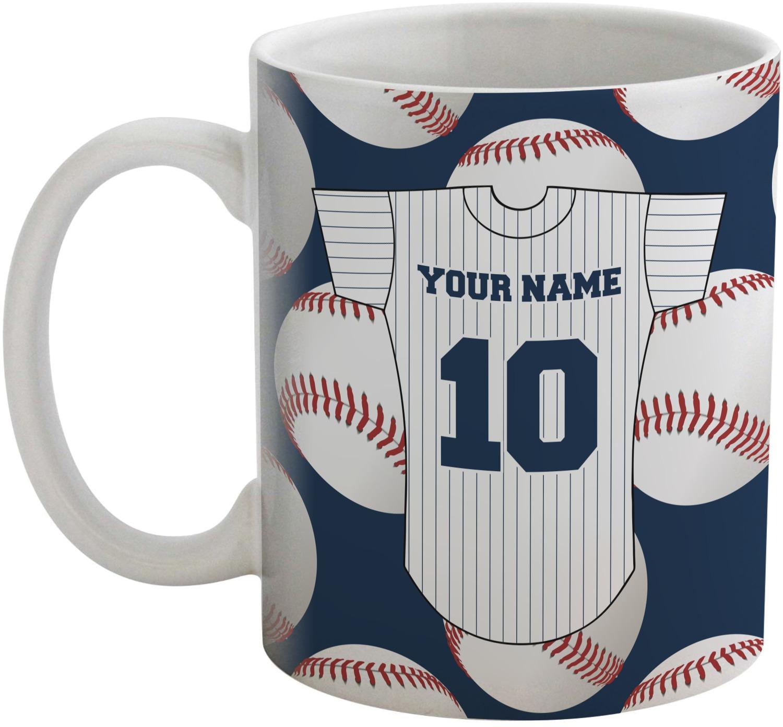 Baseball Jersey Coffee Mug Personalized