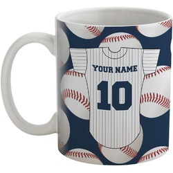 Baseball Jersey Coffee Mug (Personalized)