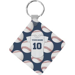 Baseball Jersey Diamond Key Chain (Personalized)