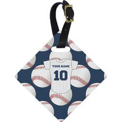 Baseball Jersey Diamond Luggage Tag (Personalized)