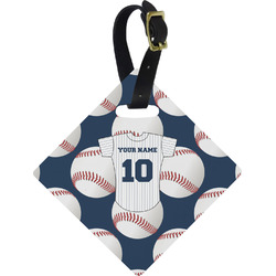 Baseball Jersey Diamond Luggage Tag (Personalized)