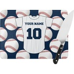 Baseball Jersey Rectangular Glass Cutting Board (Personalized)