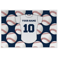 Baseball Jersey Laminated Placemat w/ Name and Number