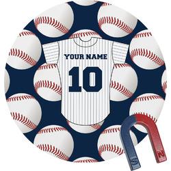 Baseball Jersey Round Magnet (Personalized)