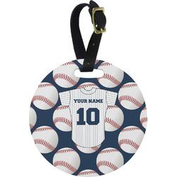Baseball Jersey Round Luggage Tag (Personalized)