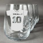 Baseball Jersey Stemless Wine Glasses (Set of 4) (Personalized)