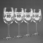 Baseball Jersey Wine Glasses (Set of 4) (Personalized)