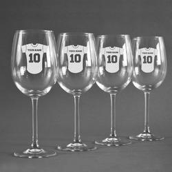 Baseball Jersey Wine Glasses (Set of 4) (Personalized)