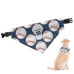Baseball Jersey Dog Bandana (Personalized)