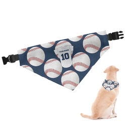 Baseball Jersey Dog Bandana - Large (Personalized)
