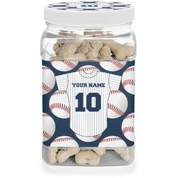 Baseball Jersey Dog Treat Jar (Personalized)