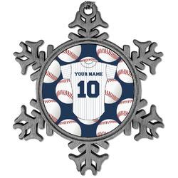 Baseball Jersey Vintage Snowflake Ornament (Personalized)