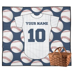 Baseball Jersey Outdoor Picnic Blanket (Personalized)