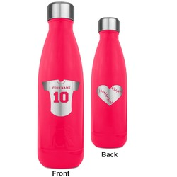 Baseball Jersey RTIC Bottle - 17 oz. Pink - Engraved Front & Back (Personalized)
