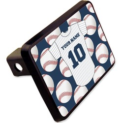 "Baseball Jersey Rectangular Trailer Hitch Cover - 2"" (Personalized)"