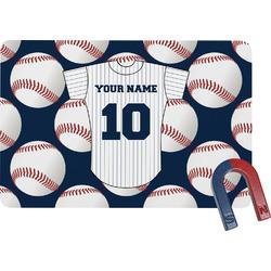 Baseball Jersey Rectangular Fridge Magnet (Personalized)