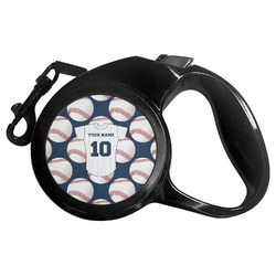 Baseball Jersey Retractable Dog Leash - Multiple Sizes (Personalized)