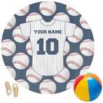 Baseball Jersey Round Beach Towel (Personalized)