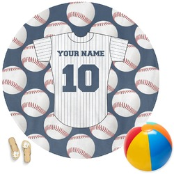 Baseball Jersey Round Beach Towel (Personalized)